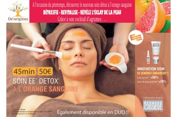 Soin visage Détox à l'orange sanguine