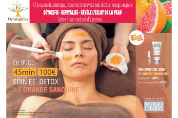 Soin visage Détox à l'orange sanguine en DUO